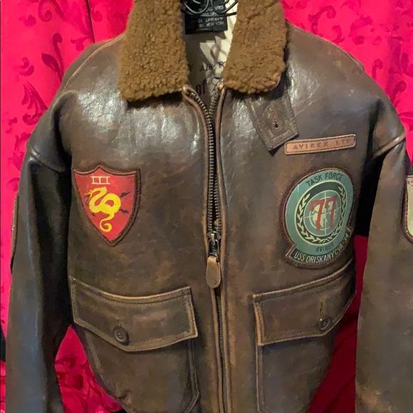 7bf26d322 Men's Leather Avirex U.S. Navy Jacket